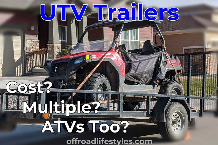 picture of a Polaris RZR 570 on a trailer